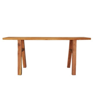 Minimal Countryside Oak & Pine Entry Table For Sale