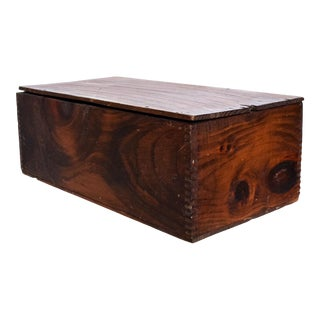 Vintage Antique Decorative Wood Box Splice Lap Joints For Sale