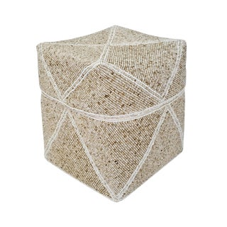Beaded Bamboo Box Large For Sale