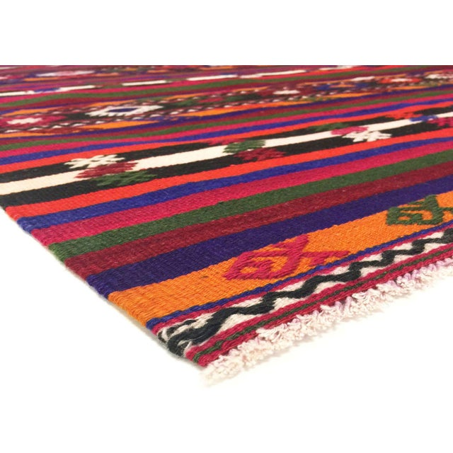 1950s Turkish Kilim handwoven with wool on wool foundation in the Oushak region of eastern Turkey. Kilims & Flat Weaves...