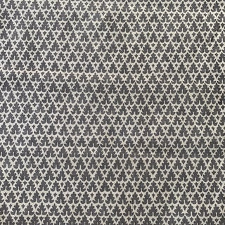 Quadrille Volpi Venetian Style Grey on Tint Linen Fabric- 1 3/4 Yards For Sale