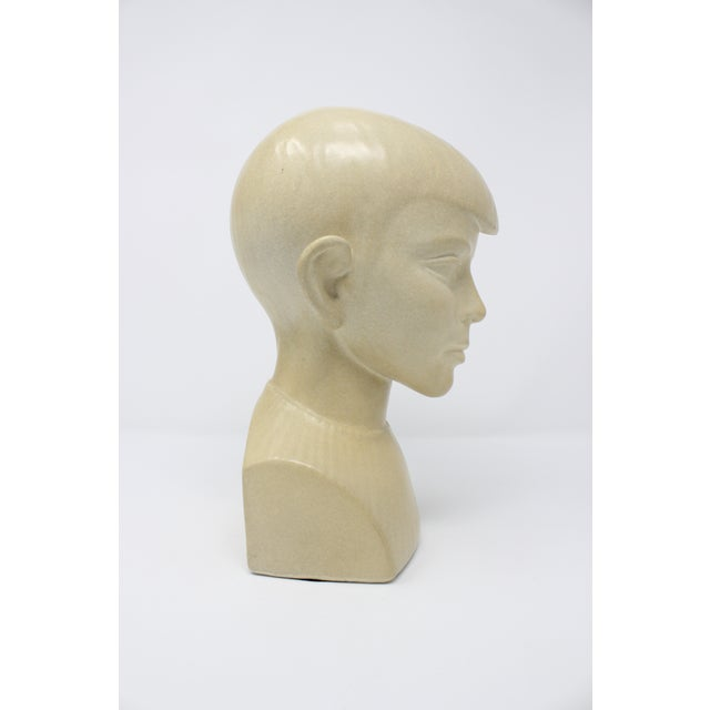 Waylande Gregory Waylande Gregory Art Deco Ceramic Boy Bust For Sale - Image 4 of 9