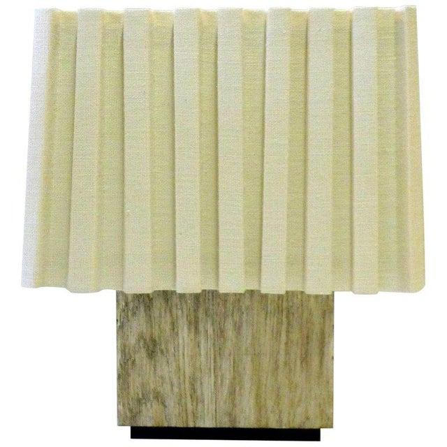 Paul Marra Modern Distressed Silvered Oak Lamp For Sale - Image 9 of 9