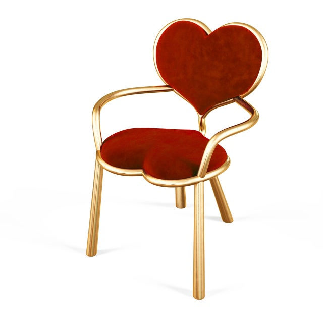 Cast Bronze Heart Chair by Artist Troy Smith - Contemporary Design - Limited Edition For Sale In Chicago - Image 6 of 8
