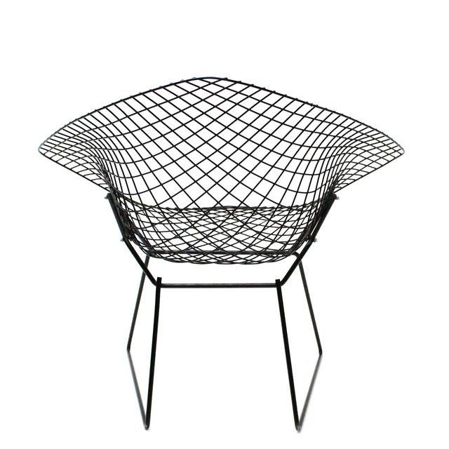 Harry Bertoia Diamond Black Chairs - A Pair - Image 5 of 5