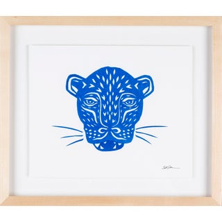 Stacey Elaine Blue Jaguar Mask Collage For Sale