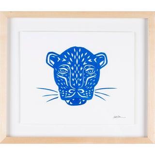 Stacey Elaine Blue Jaguar Mask Collage For Sale