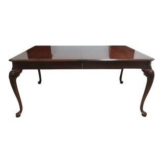 Thomasville Cherry Shell Carved Dining Table