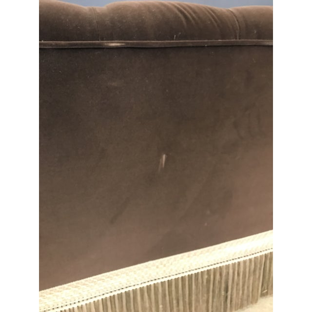 Mocha Brown Velvet Tufted Chesterfield With Fringe by Century Furniture For Sale - Image 10 of 13
