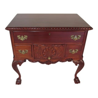 1940s Traditional Custom Made Mahogany Lowboy For Sale