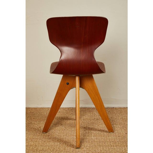 Mid-Century German School Chairs - Set of 6 For Sale - Image 12 of 13