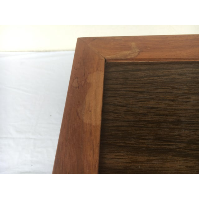 Small Mid-Century Modern Wooden Rolling Tray Table Cart For Sale - Image 10 of 12