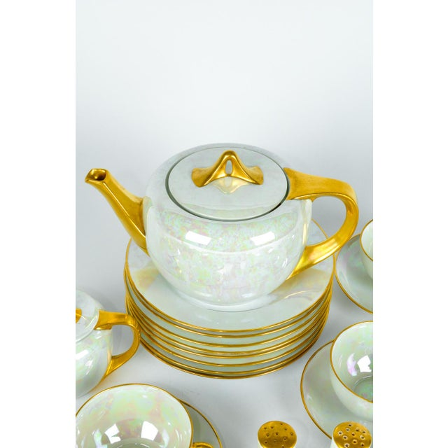 1900 - 1909 1900s German Vintage Lusterware Luncheon Set - Set of 31 For Sale - Image 5 of 8
