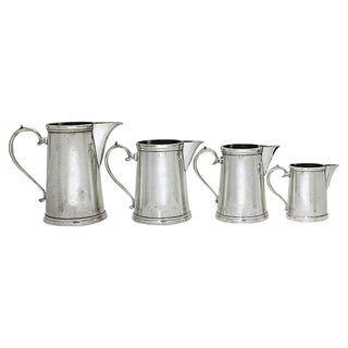 Art Deco Hotelware Pitchers, 4 Pieces For Sale