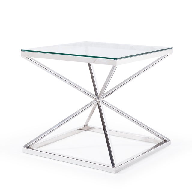 The Pisa side table is the perfect modern addition to any room! Its light-weight design pairs well with any style. The 8mm...
