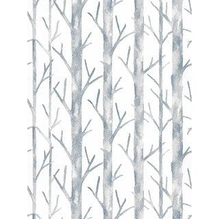 Scalamandre Everett Wallpaper, Ink Blue, 8 Yards For Sale