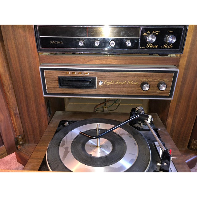 1970s 1970's Octagon Stereo Console For Sale - Image 5 of 13