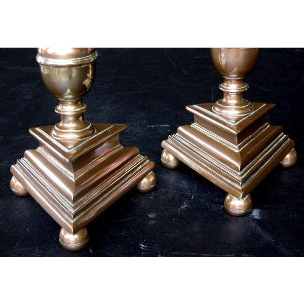 A Substantial Pair of French Baroque Style Bronze Pricket Sticks For Sale In San Francisco - Image 6 of 6