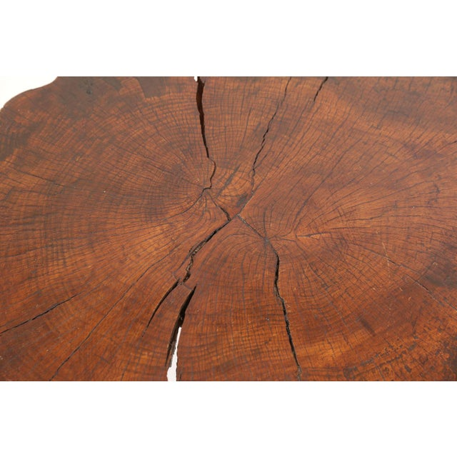 1980s Vintage Tree Trunk Table For Sale - Image 5 of 13