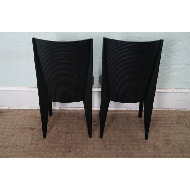 Calligaris Black Italian Dining Chairs - Set of 4 - Image 4 of 10