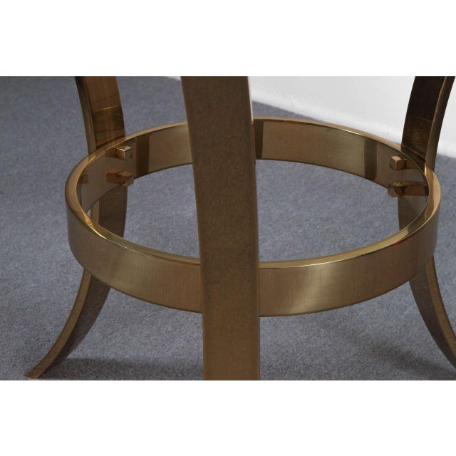 Modern 1970s Modern Brass and Glass Tripod Entry Table For Sale - Image 3 of 9