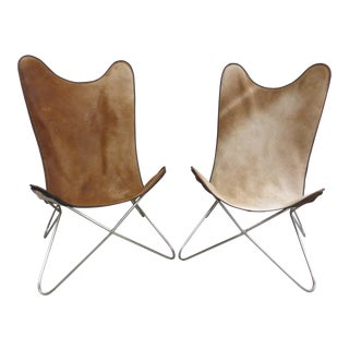 Vintage Custom Highback Butterfly Chairs - a Pair For Sale