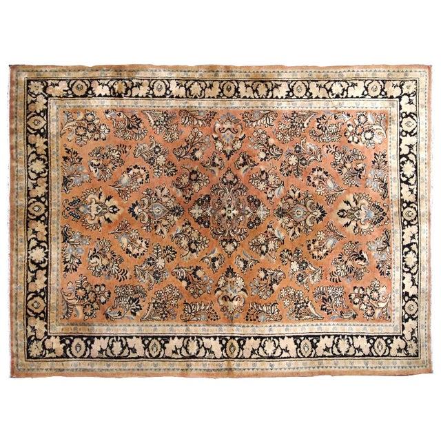 1920s, Handmade Antique Persian Sarouk Rug 5.2' X 8.3' - 1b704 For Sale - Image 9 of 10
