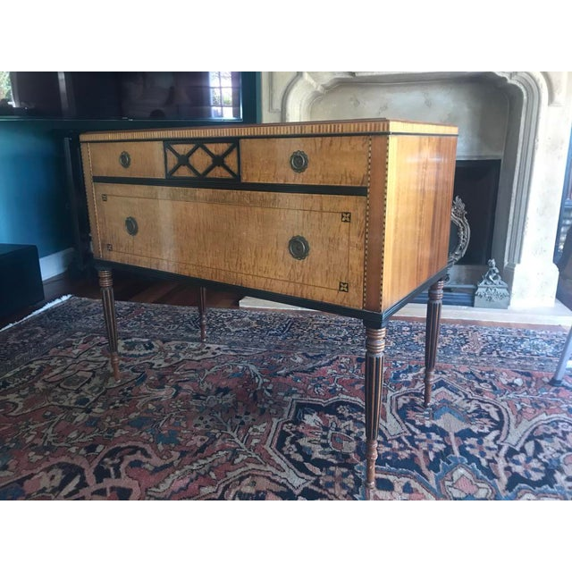 Biedermeier 1940s Biedermeier Chest of Drawers With Intricate Marquetry For Sale - Image 3 of 8