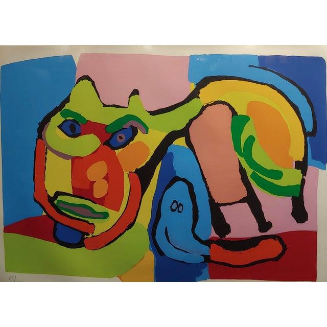 1969 Vintage Karel Appel Abstract Cat Original Signed Lithograph Print For Sale - Image 4 of 8