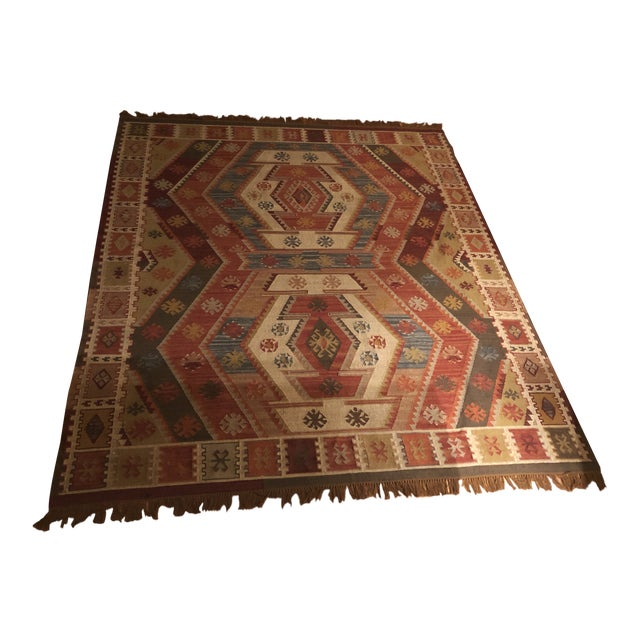Pottery Barn Recycled Indoor/Outdoor Gianna Kilim Rug