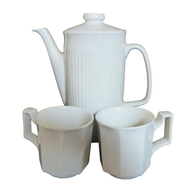 White Ironstone Tea Service Set - 3 Pieces For Sale