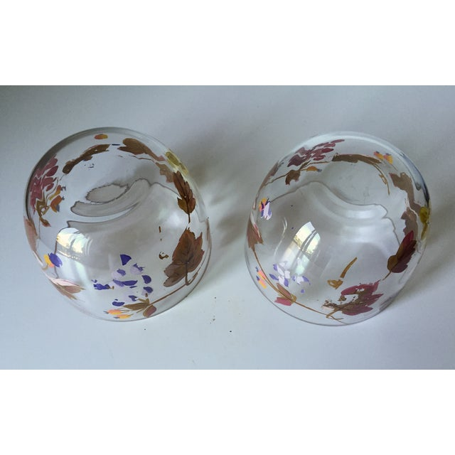 Vintage Grape Vine Crystal Bowls - A Pair - Image 5 of 5