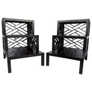 Chic Telephone or Side Tables - a Pair For Sale