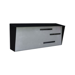 Modern Mailbox - Two Tone Black & Stainless For Sale