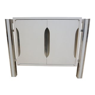 Milo Baughman for Thayer Coggin Aluminum Nightstand For Sale