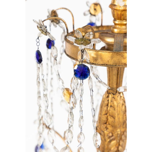 18th Century Italian Giltwood and Gilded Iron Chandeliers - a Pair For Sale - Image 10 of 12