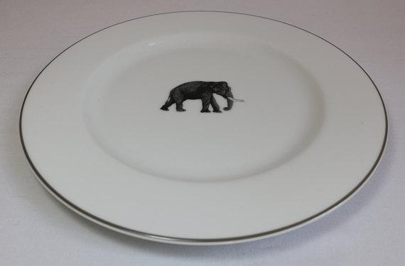 Elephant Dinner Plates - Set of 6 (New) - Image 2 of 11  sc 1 st  Chairish & Elephant Dinner Plates - Set of 6 (New) | Chairish