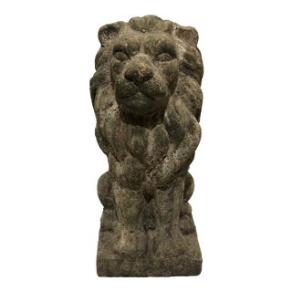 Concrete Lion Garden Statue For Sale