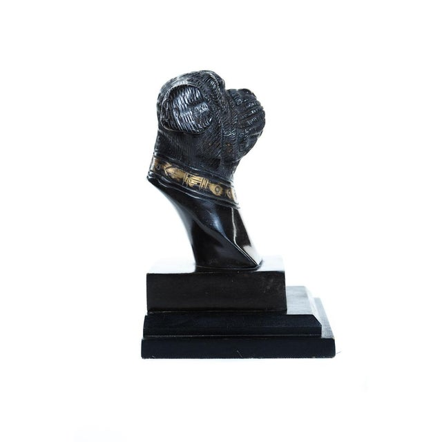 Antique English Bronze Bulldog Bookends For Sale - Image 4 of 7