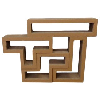 Cardboard Puzzle Piece Modular Shelf or Coffee Table - 4 Pc. Set For Sale