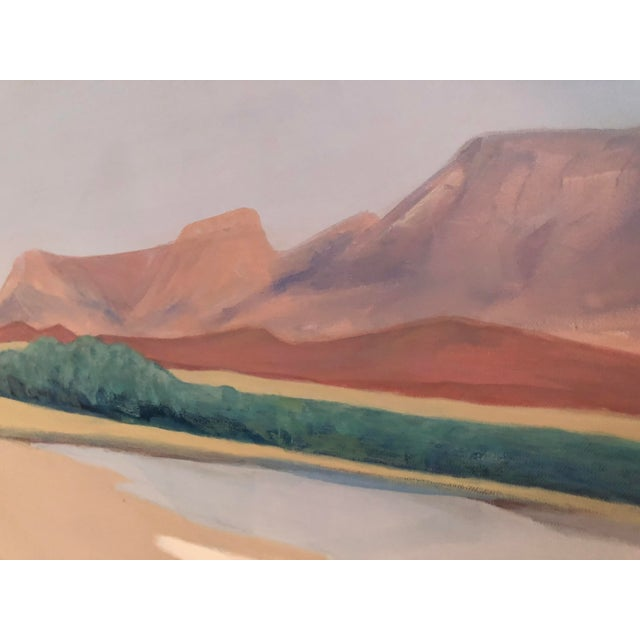 "1980s ""Desert Edge"" Marilyn Spencer (New Orleans, 1939-2017) Acrylic on Canvas For Sale - Image 5 of 9"