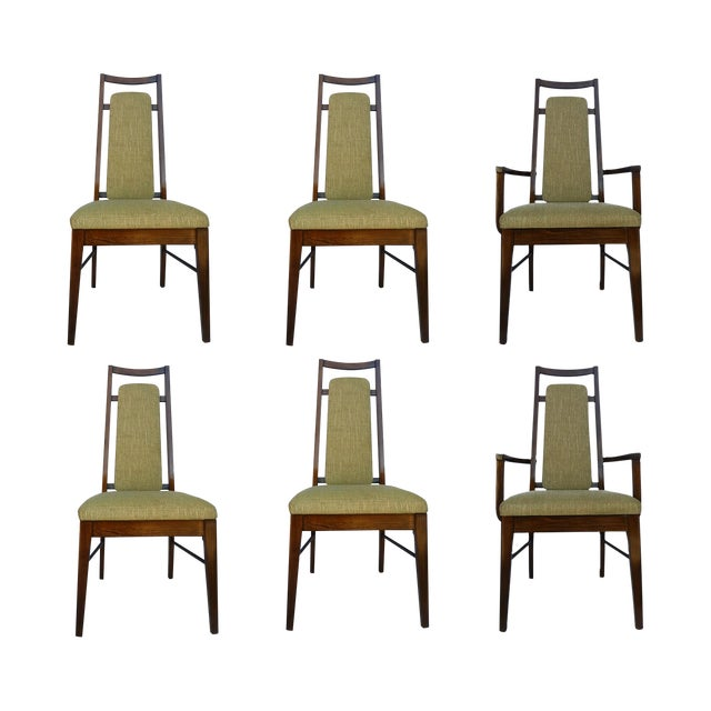 1960's Dining Room Chairs in Walnut - Set of 6 - Image 1 of 9