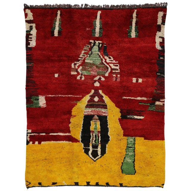 Moroccan Contemporary Abstract Design Berber Rug - 8′8″ × 11′2″ - Image 1 of 6