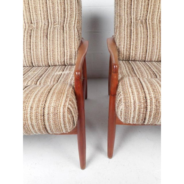 Mid-Century Modern Danish Teak Lounge Chairs - a Pair - Image 6 of 9
