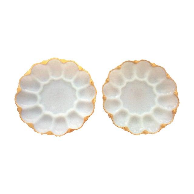 Vintage Deviled Egg or Oyster Platters - A Pair - Image 1 of 8