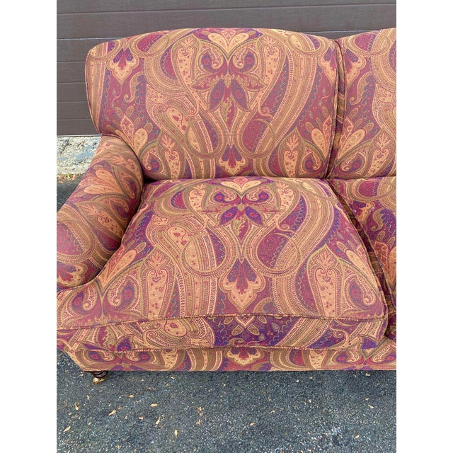 English George Smith Standard Arm Sofa For Sale - Image 3 of 7