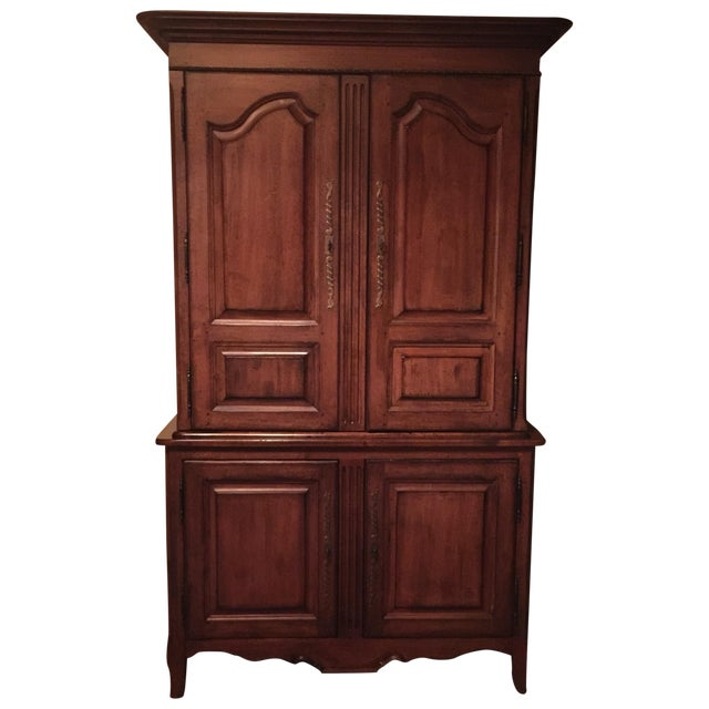 Lexington Traditional Large Cherry Wood Armoire - Image 1 of 10