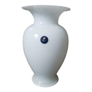 1980s Contemporary Scandinavian Royal Copenhagen Crystal White Vase For Sale
