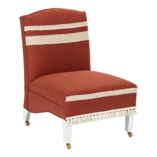 Casa Cosima Sintra Chair in Paprika Linen For Sale