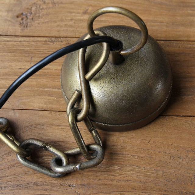 Vintage Solid Brass Bell Lamp - Image 4 of 5